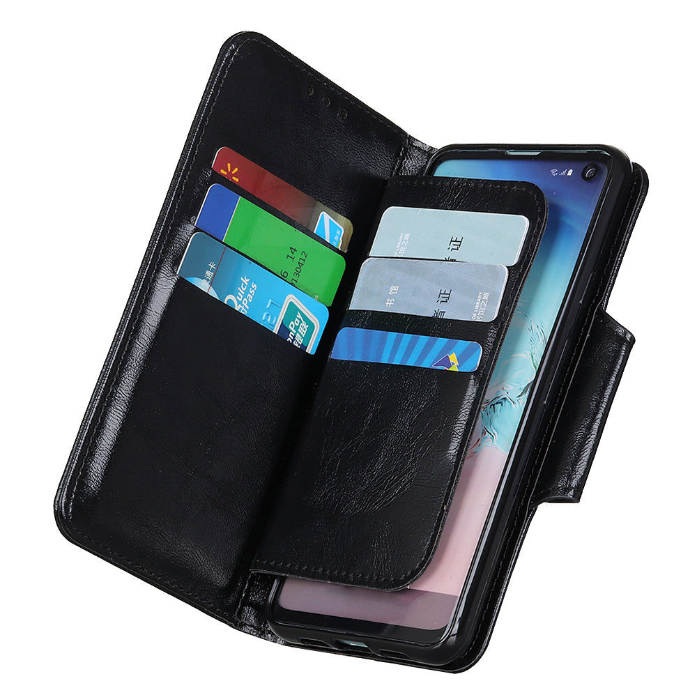 Pixel 4 Case PU Leather Wallet Cover Folio Kickstand with Card Slots Money Holders Black