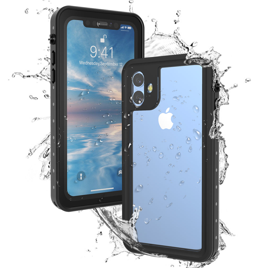 iPhone 11 Waterproof Case 360 Degree Shockproof Rugged Underwater Phone Case Black