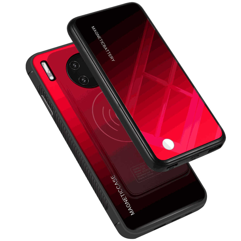 Huawei Mate 30 Pro Battery Case 5000mah Portable Extended Backup Charger Magnetic Case Red