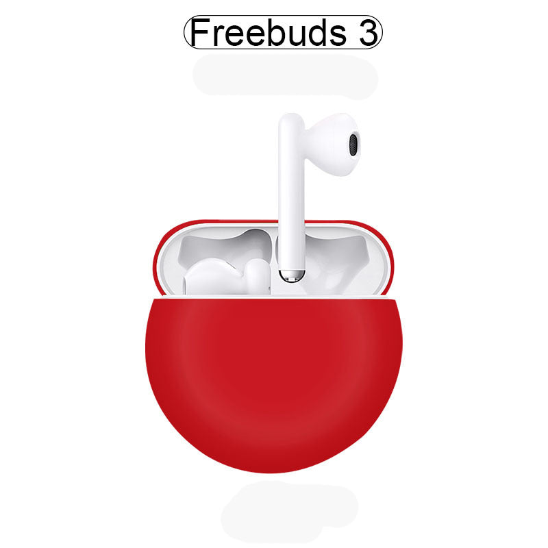 Huawei FreeBuds 3 Case Protective Silicone Cover Huawei FreeBuds Accessories Case Skin Red