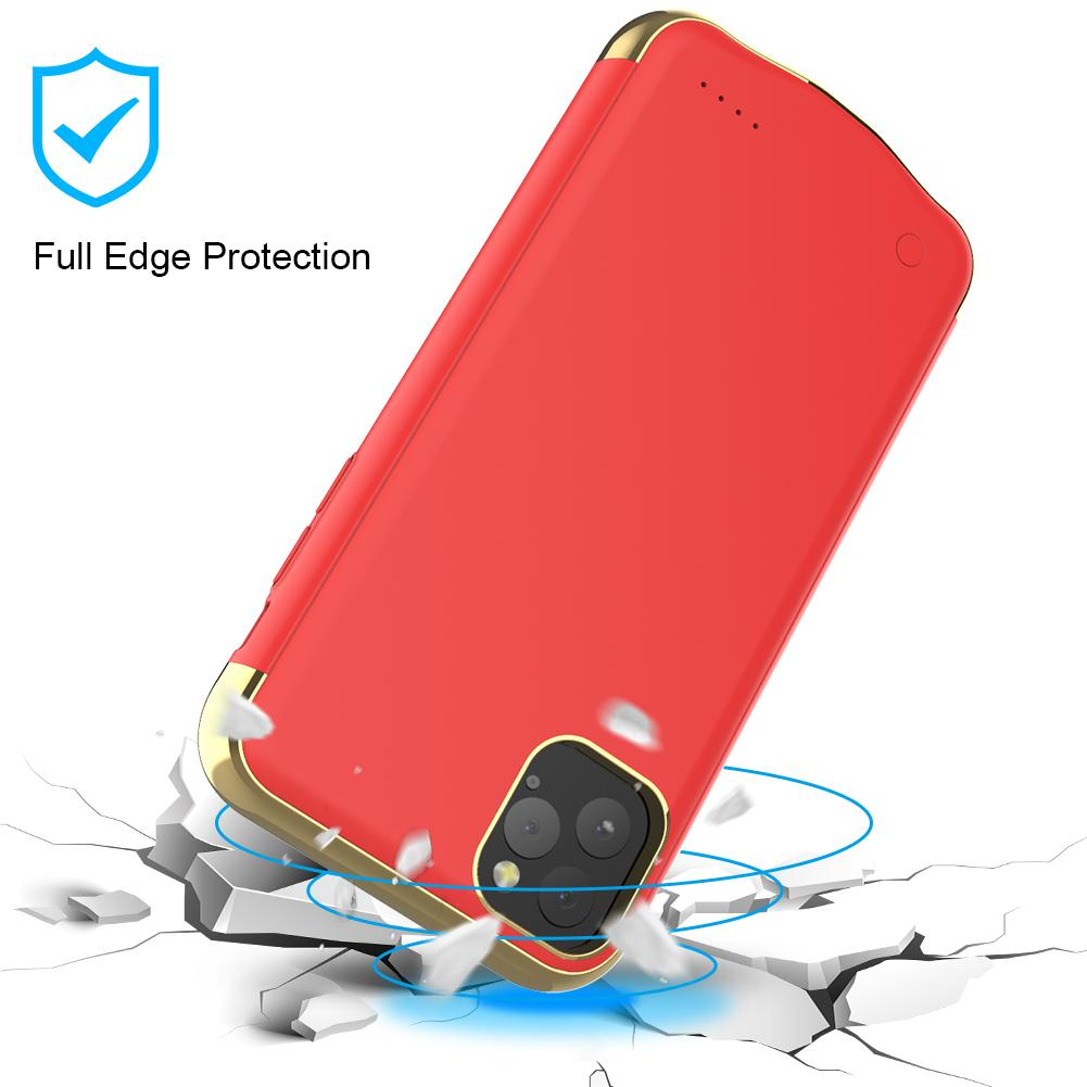 Battery Case for iPhone 11 Pro 5500mah Portable Protective Charging Case Red