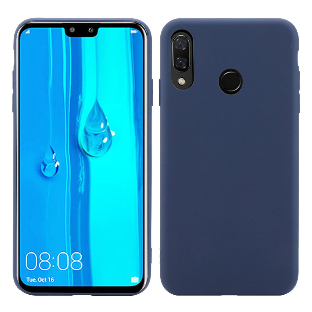 HUAWEI Y9 PRIME 2019 Case TPU Shockproof Full-Body Protective Cover Dark Blue