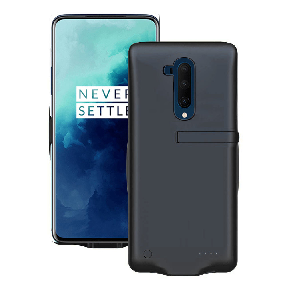 Battery Case for Oneplus 7T Pro 6500mAh Portable Protective Charging Case Extended Battery Pack Charger Black