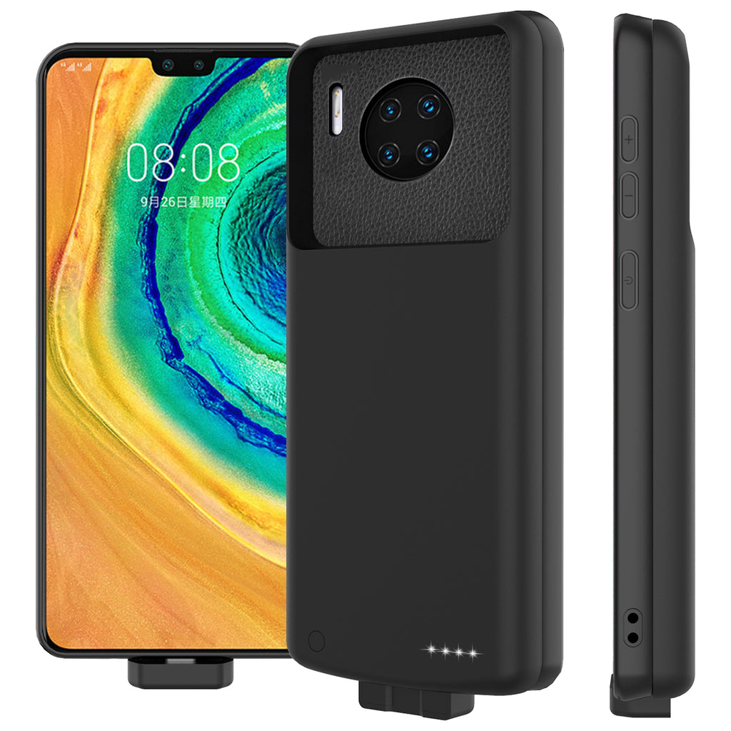 Battery Case for Huawei Mate 30 Pro Protective Battery Pack 7000mah Extended Charger Black