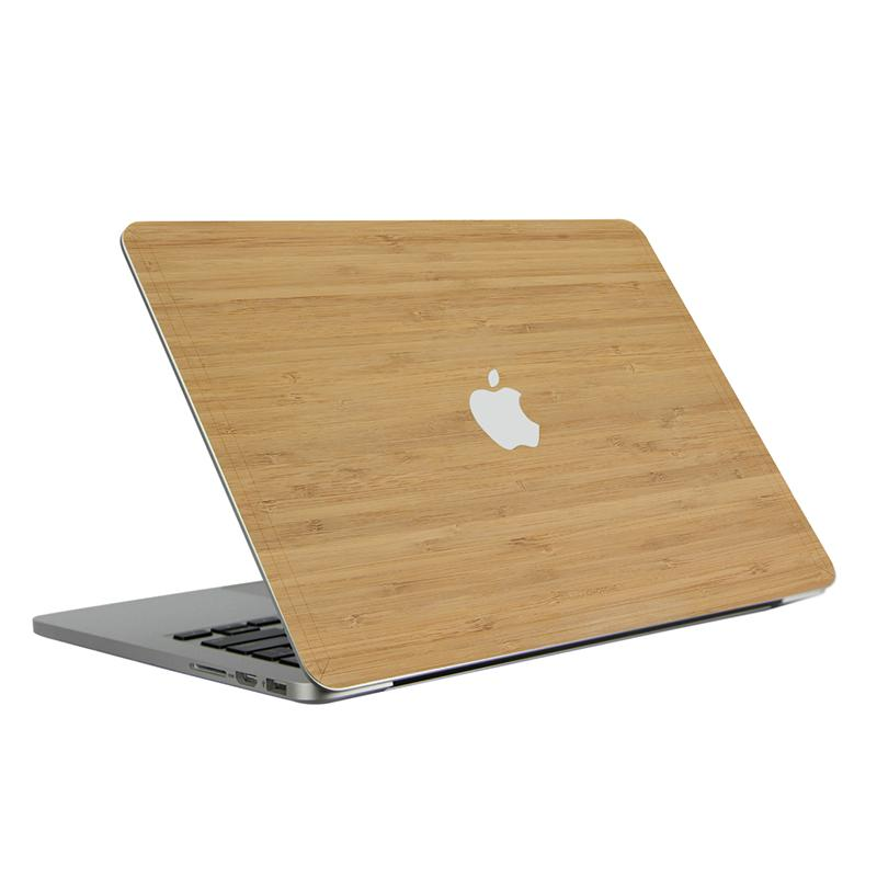 Laptop Case for MacBook Pro 16 Retina 2015 Wood Leather Case Bamboo Grain Laptop Protector Cover? Cherry Color))