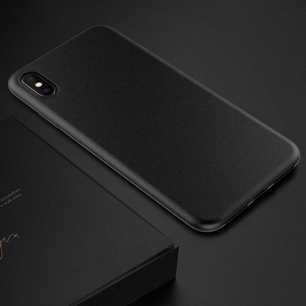 iPhone Xs Max Case Ultra Thin Soft TPU Back Full Body Protective Phone Cover Black