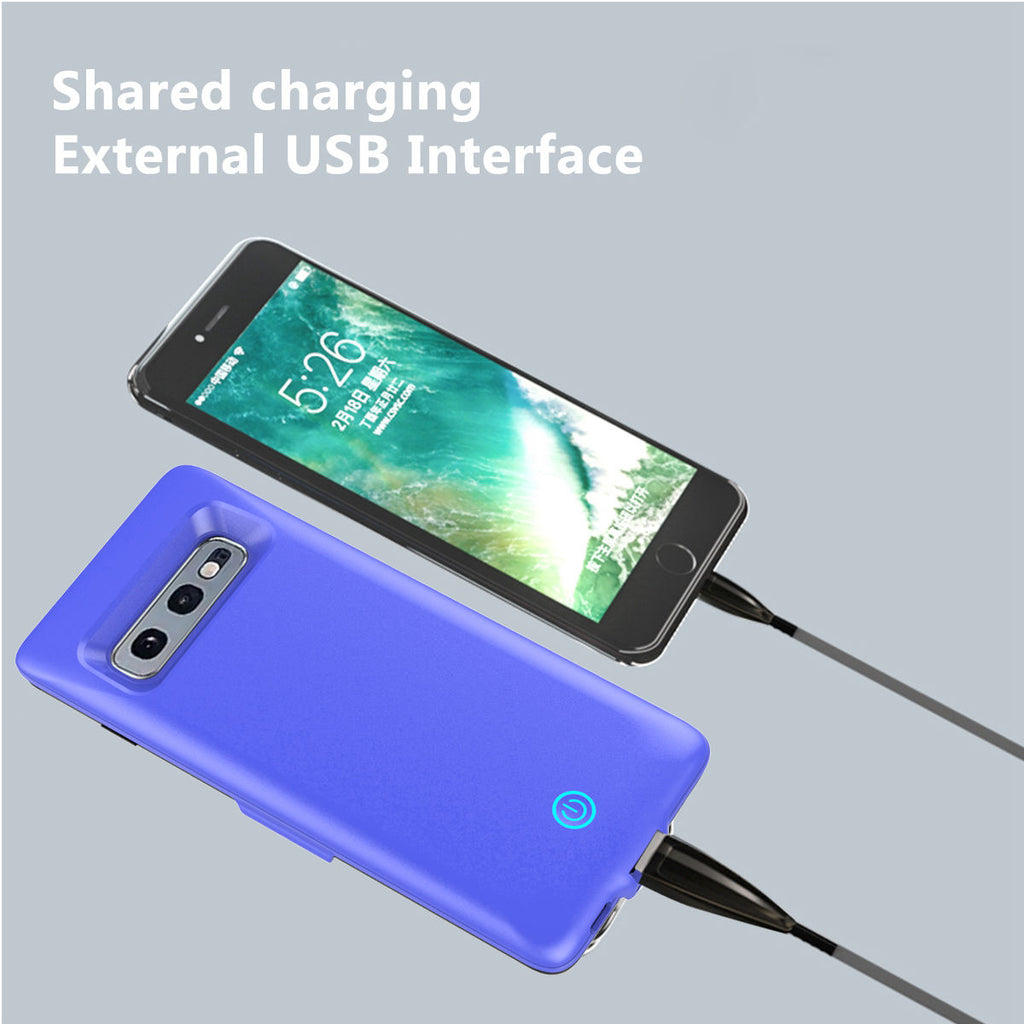 Samsung Galaxy S10e 5500mAh Rechargeable Battery Case Ultra-Slim Protective Back Cover Blue