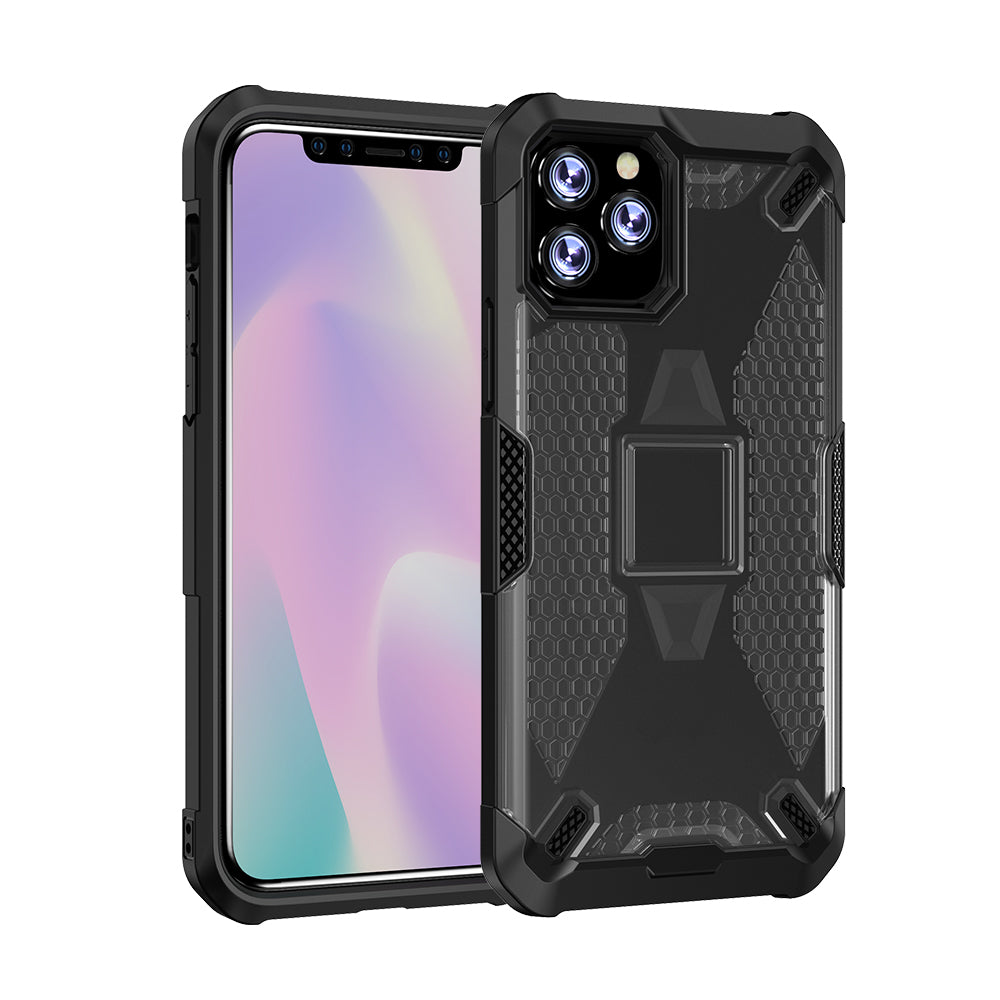 Cases for iPhone 11 Pro Shockproof Raised Bezels Heavy Duty Protective Armor Cover Black