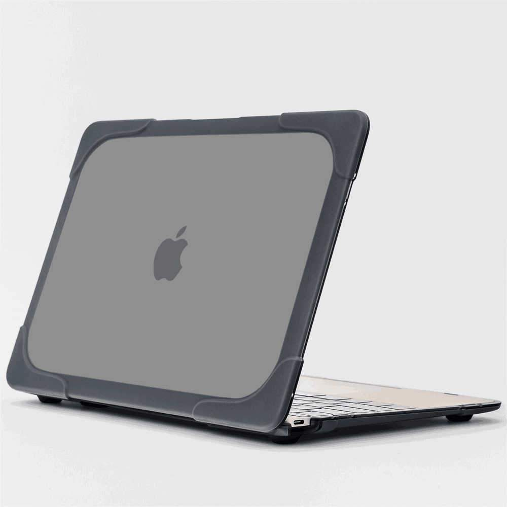 MacBook 12 Inch Case Heavy Duty Slim Hard Case Cove with Foldable Kickstand Grey