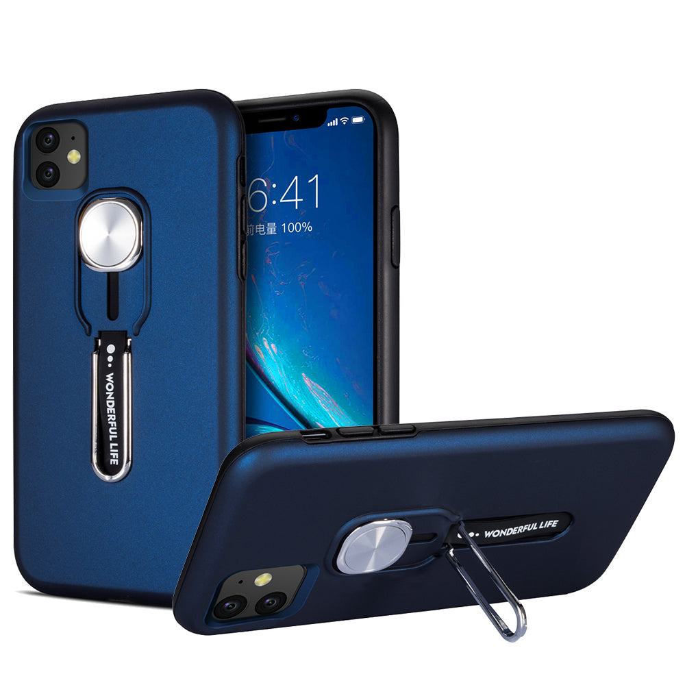 iPhone 11 Case Shockproof Full-Body with Bracket Rugged Armor Cover Blue