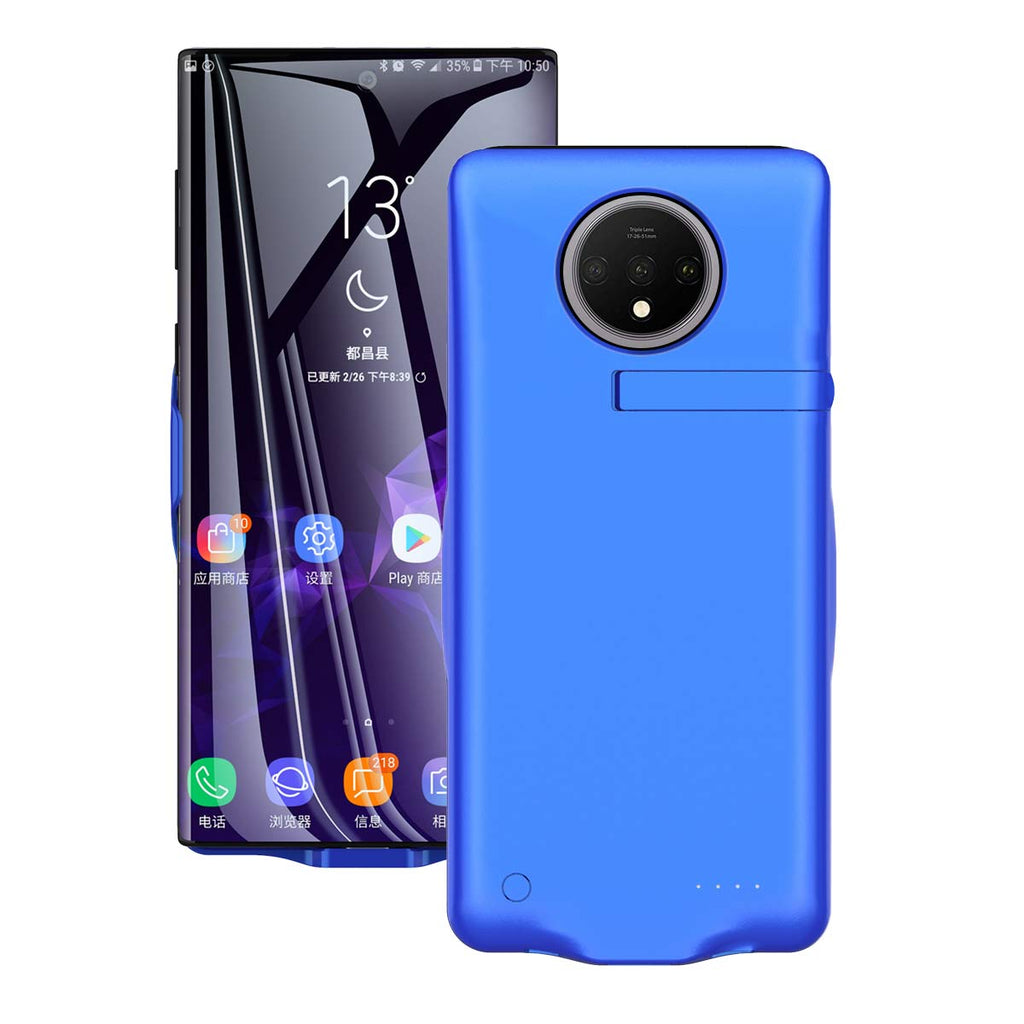 Oneplus 7T charger case ultra thin phone protector cover 6500mah extended pack Blue