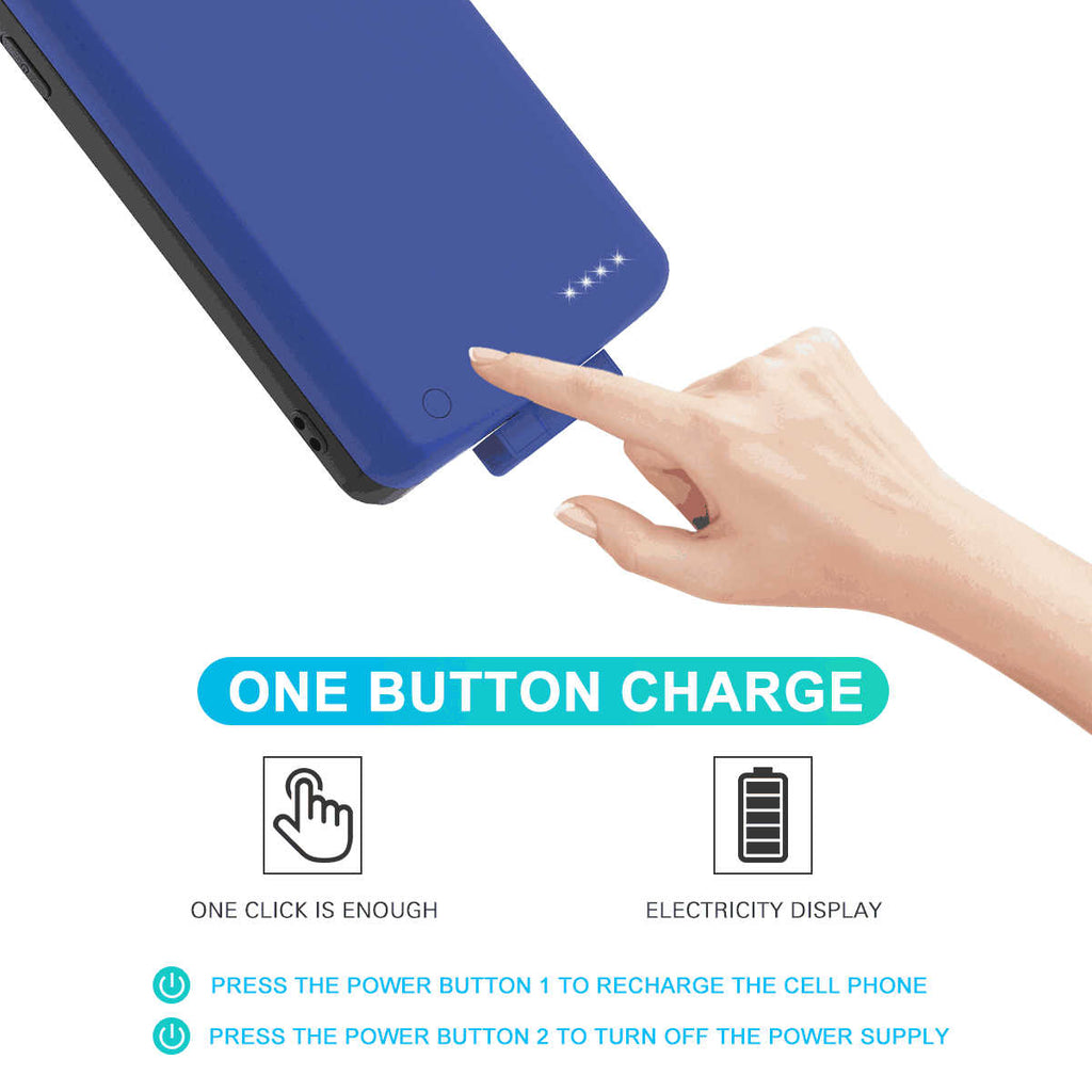 Huawei Mate 30 Pro Battery Case 7000mah Rechargeable Charger Protective Cover External Pack Blue