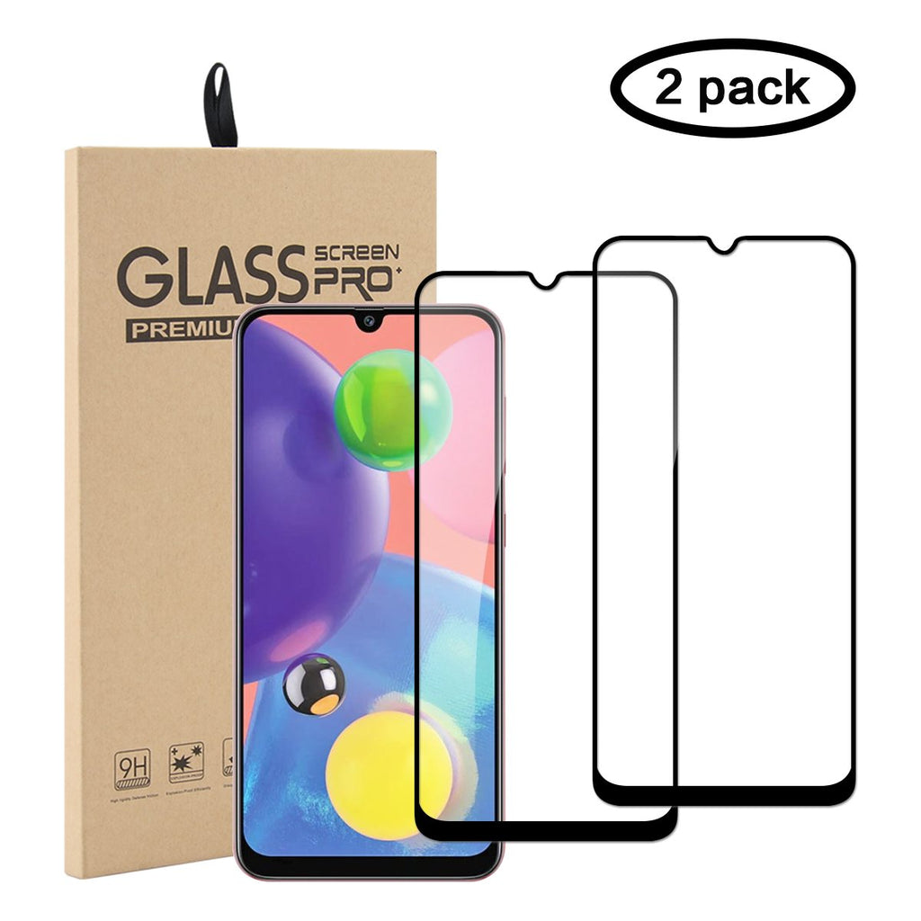 Samsung Galaxy A70s Tempered Glass Anti Scratch Full Screen Protector 2 Pack