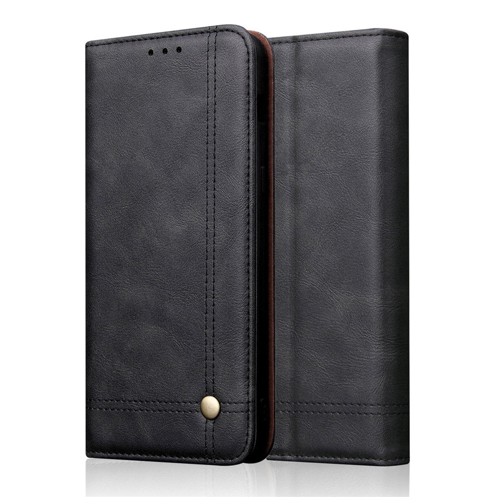 iPhone 11 pro Leather Case with Credit Card Slots & Magnetic Closure Thin Vintage Wallet Black