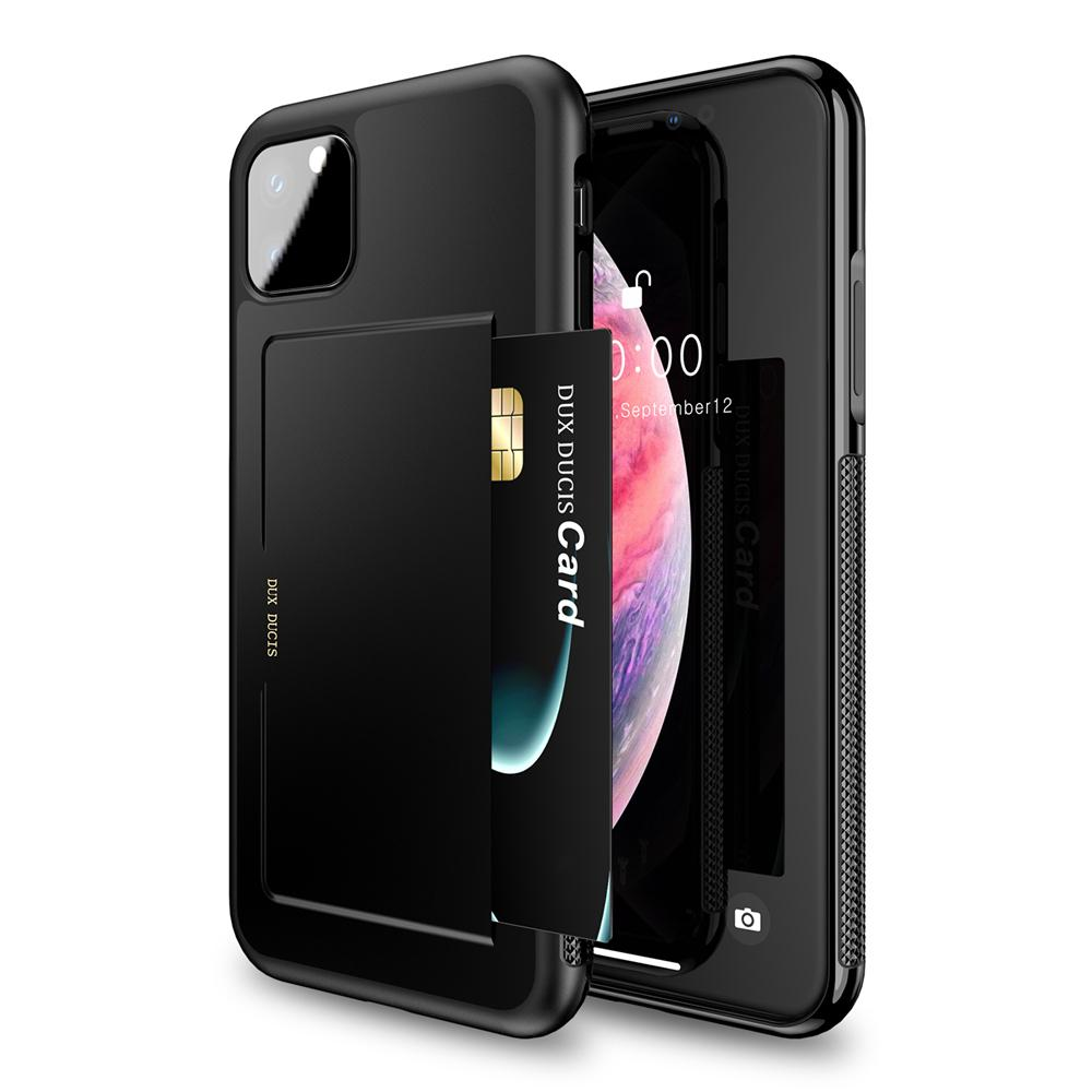 iPhone 11 Pro Max Case Slim Fit Anti-scratch Shock- Absorbing Cover with Card Holder Black