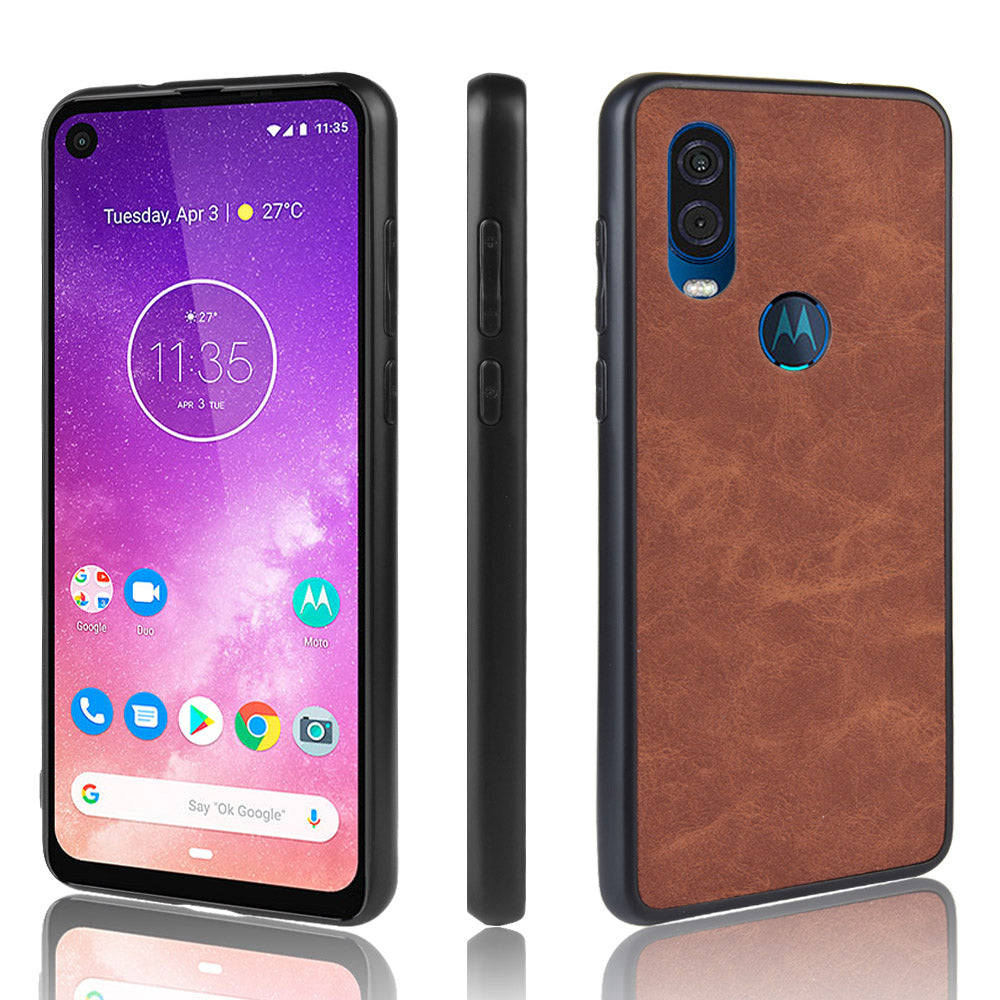 Cover for Motorola One Vision Ultra Light Case Shockproof brown