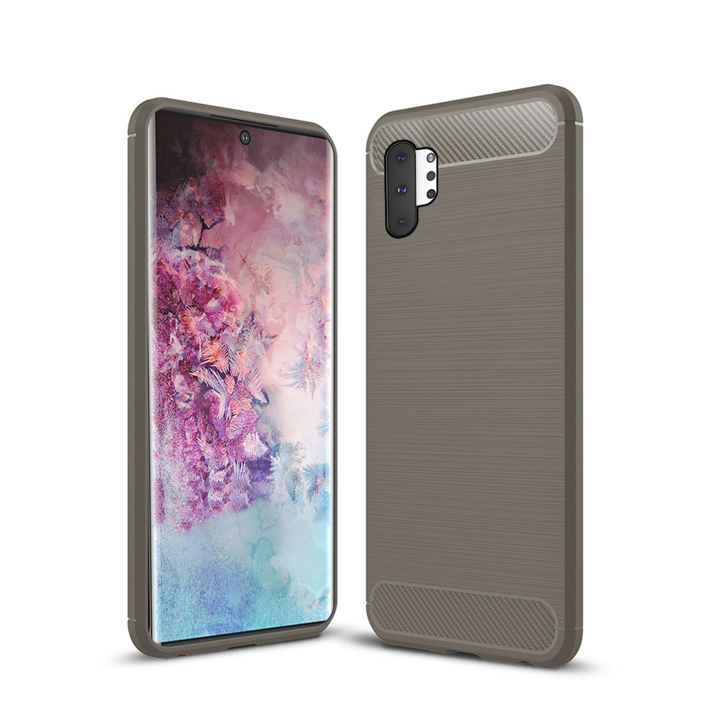 Samsung Galaxy Note 10 Plus Phone Cover Shock Absorbing Anti-slip Hybrid Case Brown