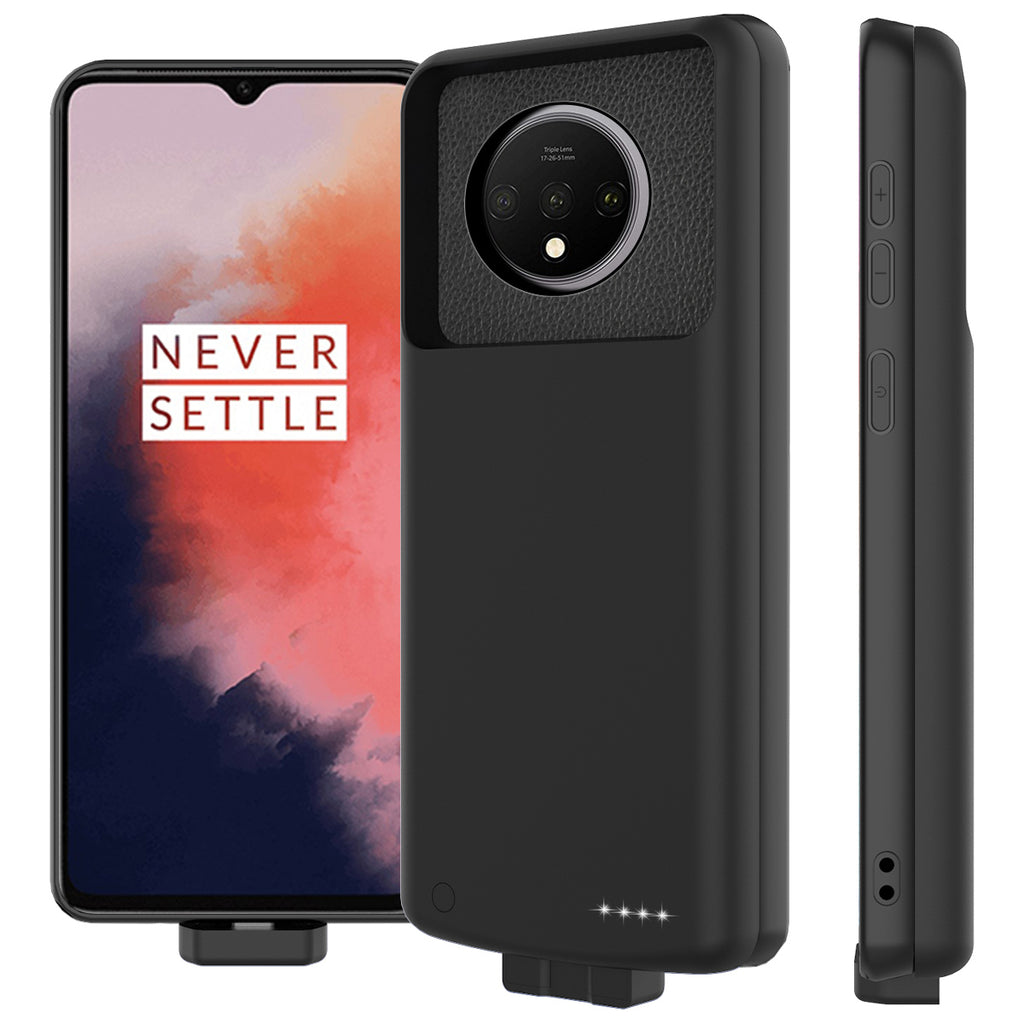 Oneplus 7T Charging Case Protective Extended Case Magnetic Battery Pack 7000mah Black