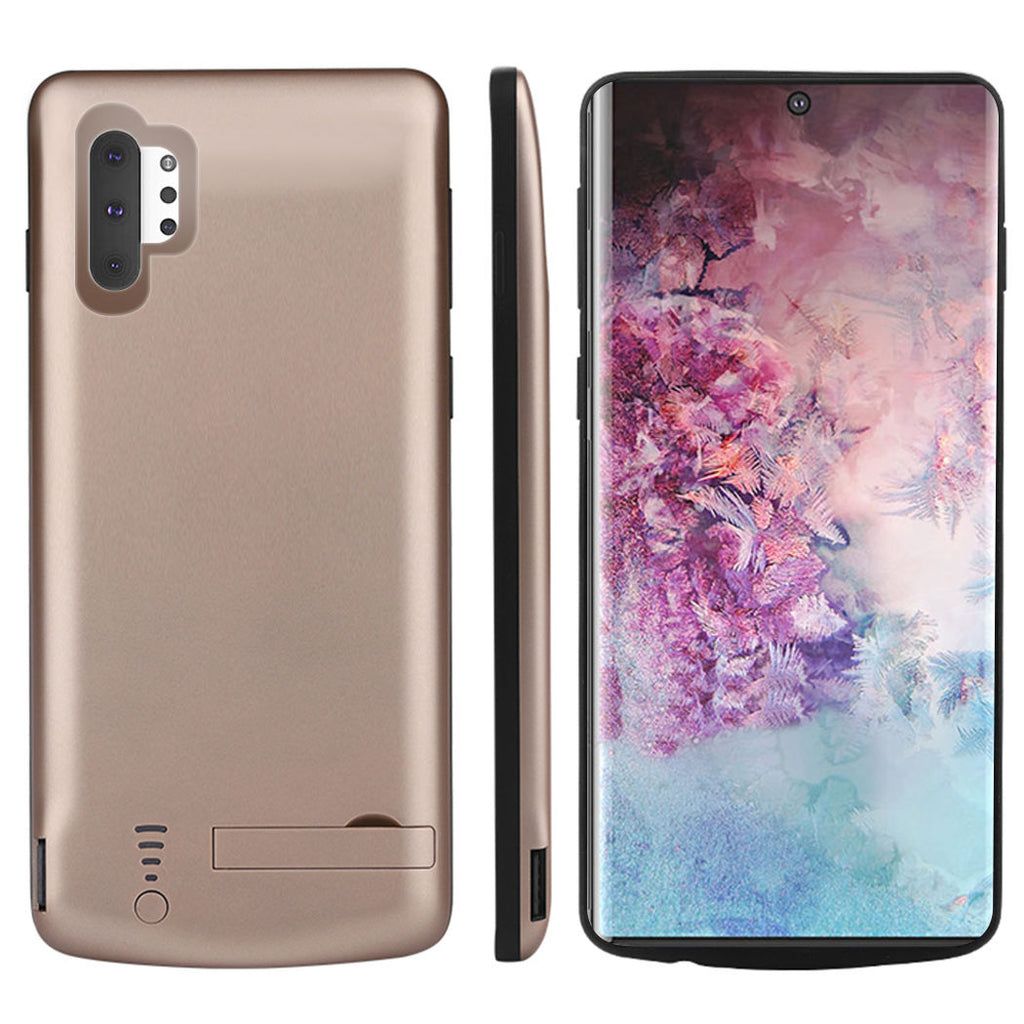 Galaxy Note 10 plus Charging Phone Case Extended Battery Case Shockproof Gold