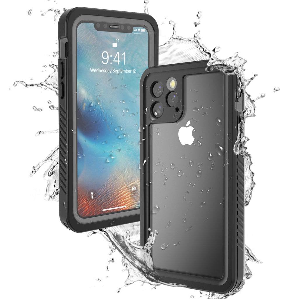 iPhone 11 pro Waterproof Case 360 Protection Waterproof Dustproof Anti Drop Phone Case Black