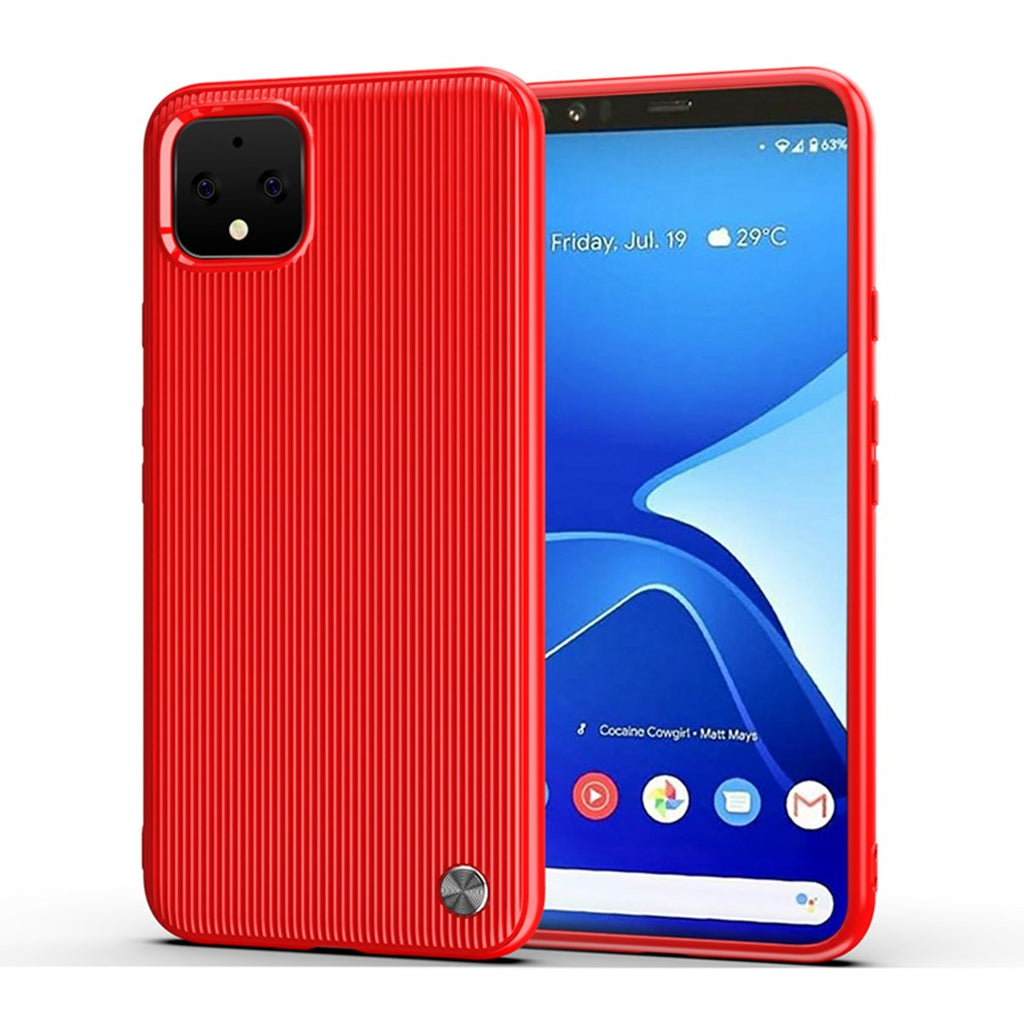 Google Pixel 4 Case Full Body Ultra-Thin Anti-Scratch TPU Protecor Case Red