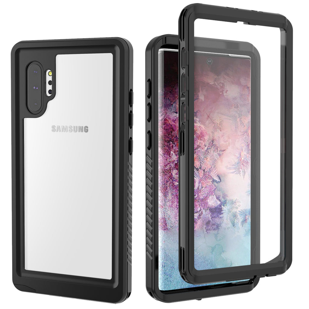 Samsung Galaxy Note 10 Plus Case Built-in Screen Protector Full-Body Rugged Holster Black