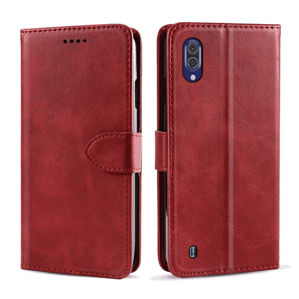 Hisense HLTE217T Wallet Case with Credit Card Holder Premium Leather Magnetic Clasp Kickstand Cover Red