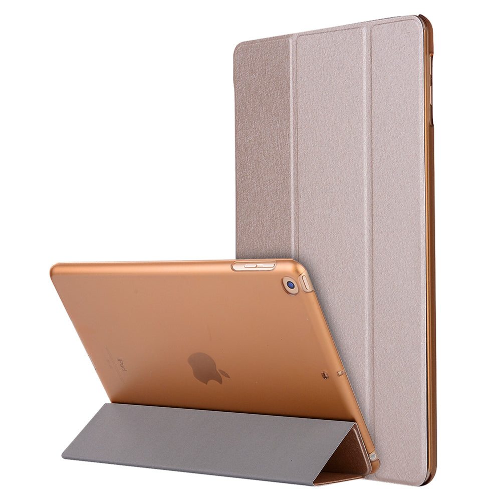 iPad 2019 10.2 Inch Leather Case Slim Folding Stand Folio Cover Gold