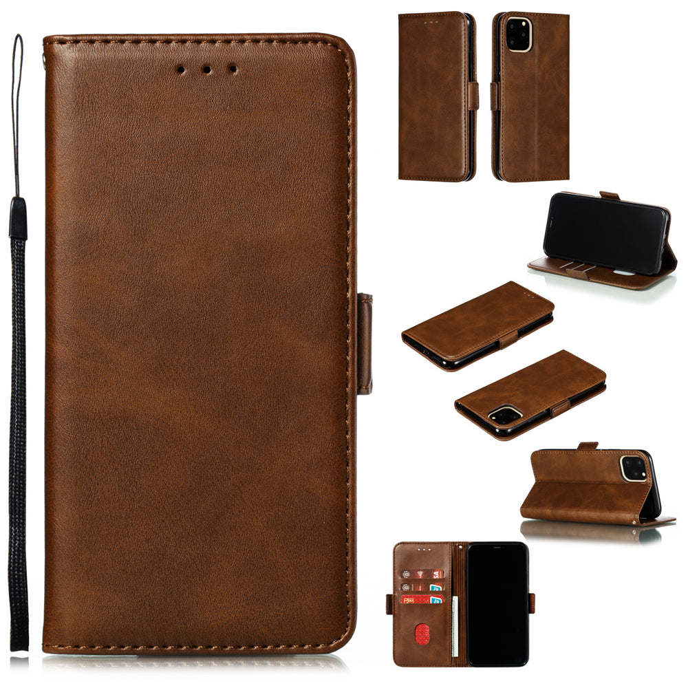 iPhone 11 pro max Wallet Case Shockproof Stand Cover with 3 Card Slots Brown
