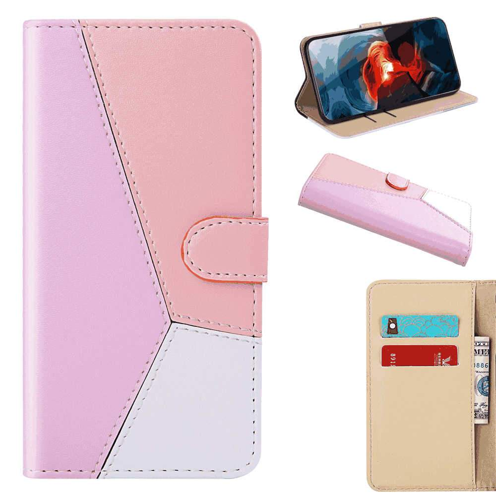 Sony Xperia 5 Leather Case Wallet Flip Cover with Card Slots for Sony Xperia 5 Pink