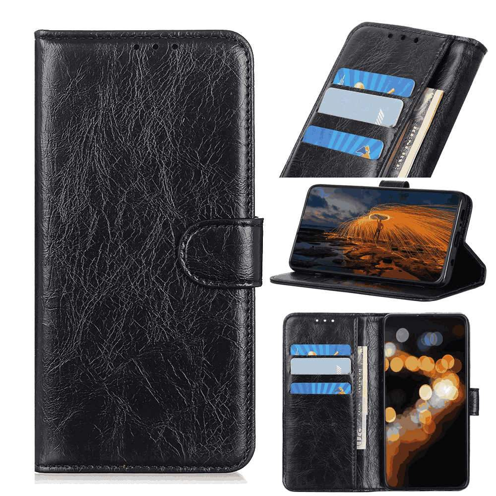 Huawei Honor V30 Wallet Case Leather Phone Cover with Card Slots Magnetic Closure Black