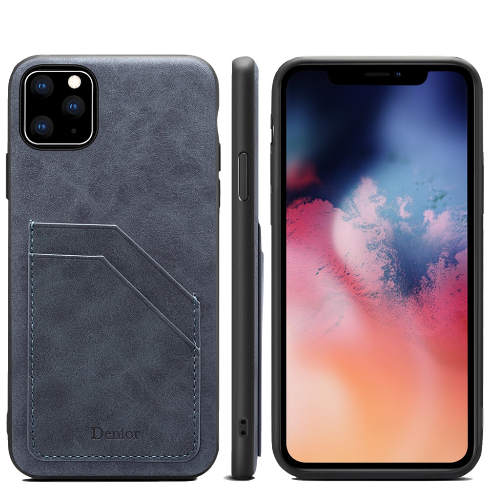 Case for iPhone 11 pro with 2 Card Holder Anti Drop Phone Cover Dark Grey