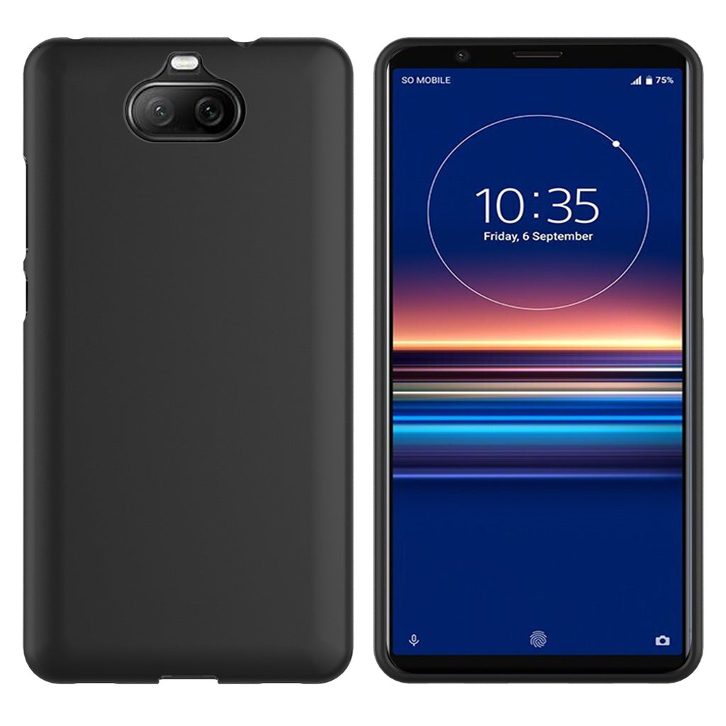 Sony Xperia 8 case ultra thin TPU drop-proof full body protection cover black