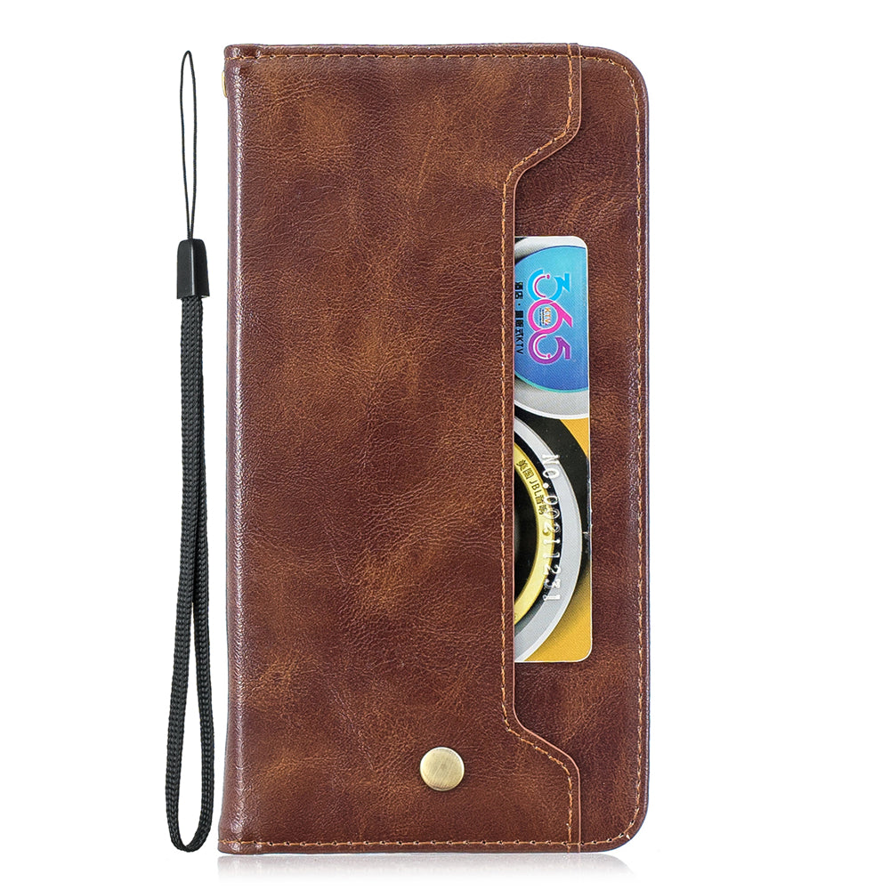 iPhone 11 Leather Wallet with Viewing Stand and Card Slots Flip Cover Case Brown