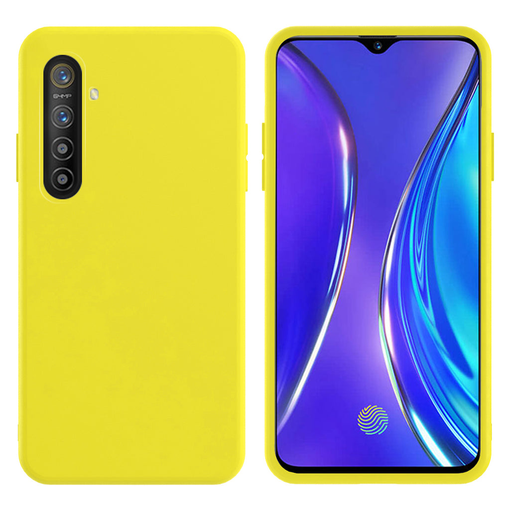 Case for Realme X2 Soft Flexible TPU Protective Cover - Lemon Yellow