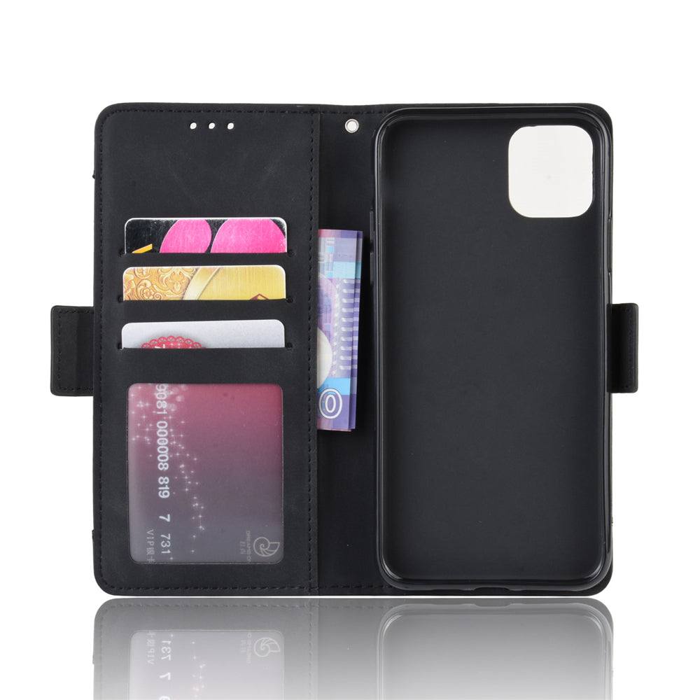 iPhone 11 Pro Max Leather Case Multiple Credit Card Slots Wallet Shockproof Cover Black