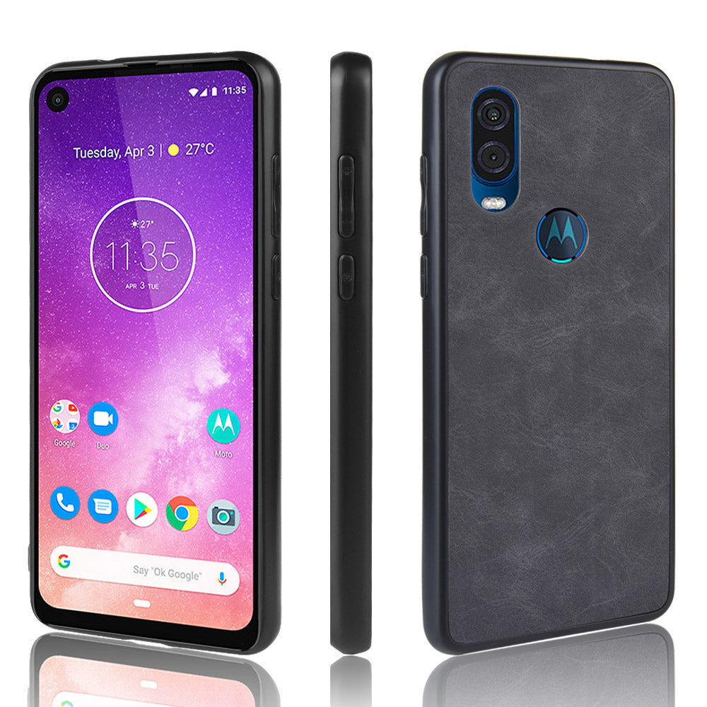 Hard PC cover for Motorola One Vision Sturdy shockproof case black