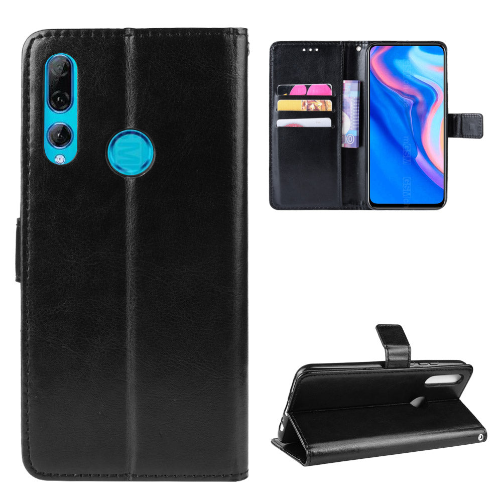 Huawei Y9 Prime 2019 leather case shockproof wallet card holder with magnetic closure black