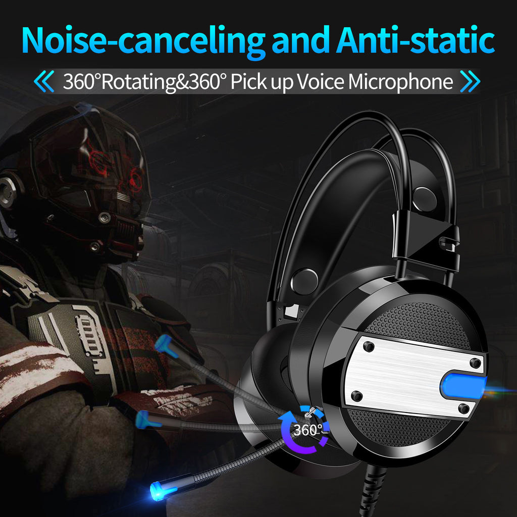 Game Headphone for PS4 Xbox One PC Bass Surround Stereo Headset