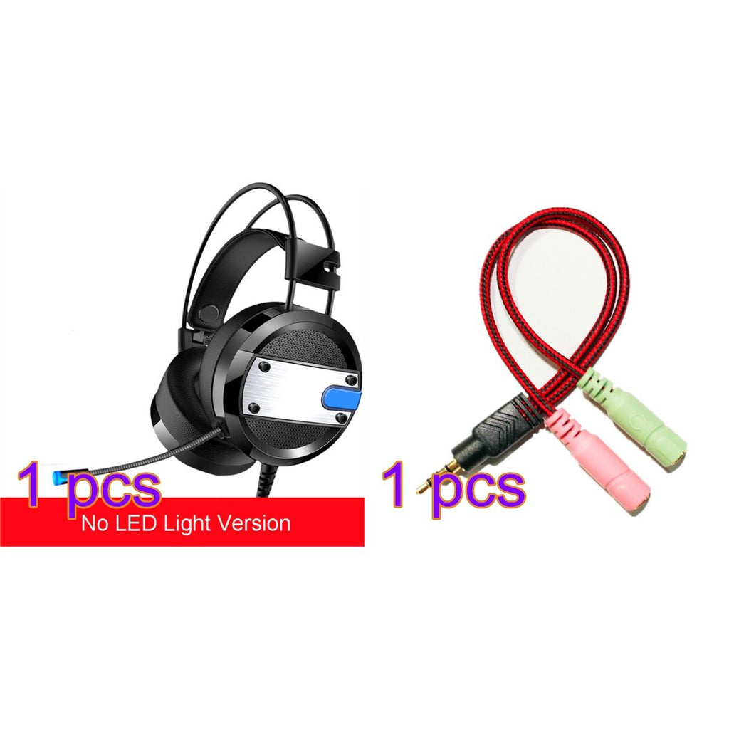 Gaming Headset for PS4 Xbox One Bass Surround Stereo Headset with Adapter