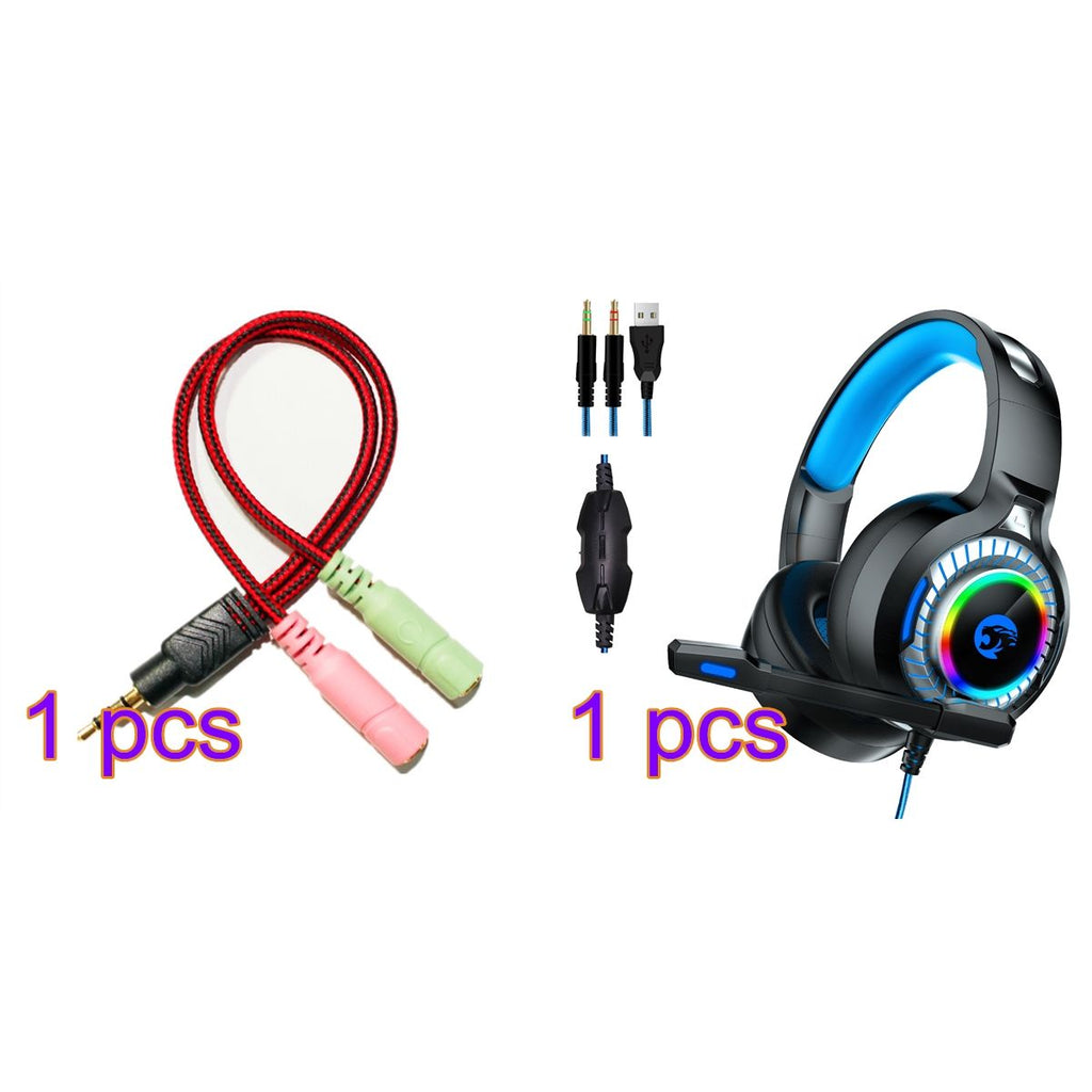 PS4 Gaming Headset Xbox One Headphones with Mic & LED Light