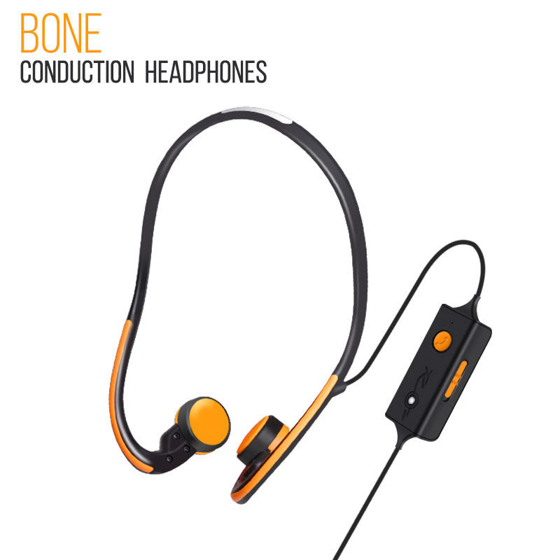 Wireless Bluetooth Earbuds Bone Conduction Earphones Built-in Mic with Charging Case Orange
