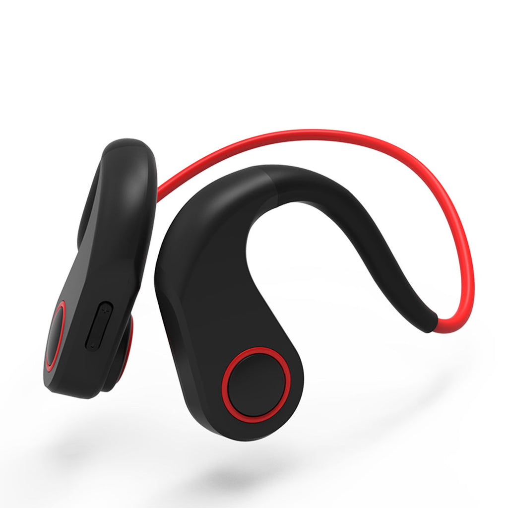 Wireless Earbuds Bone Conduction Headphones Gym Running Sweatproof Bluetooth Earphones Red