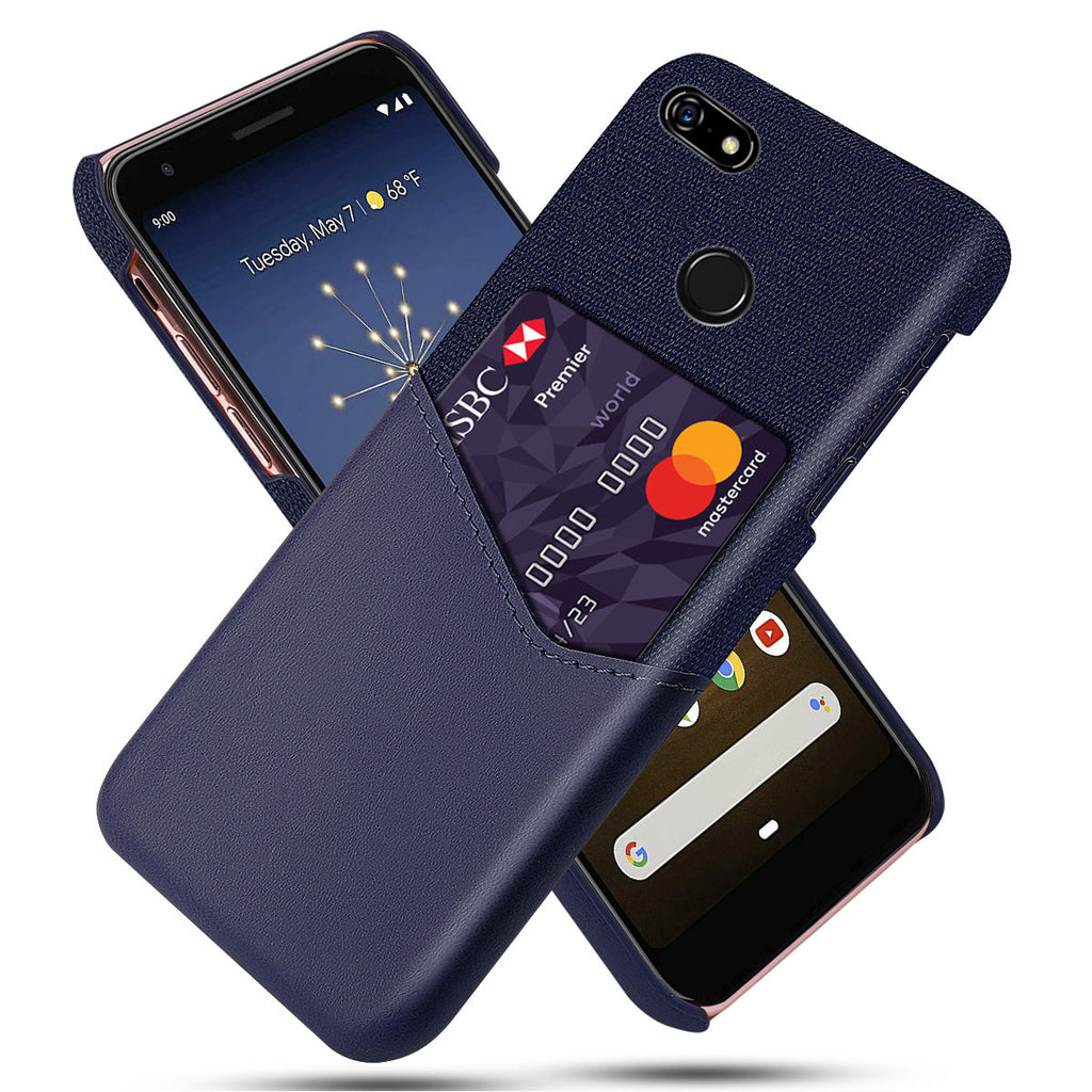 Case for Google Pixel 3a XL with Card Slots Drop Resistant Phone Back Shell Purple