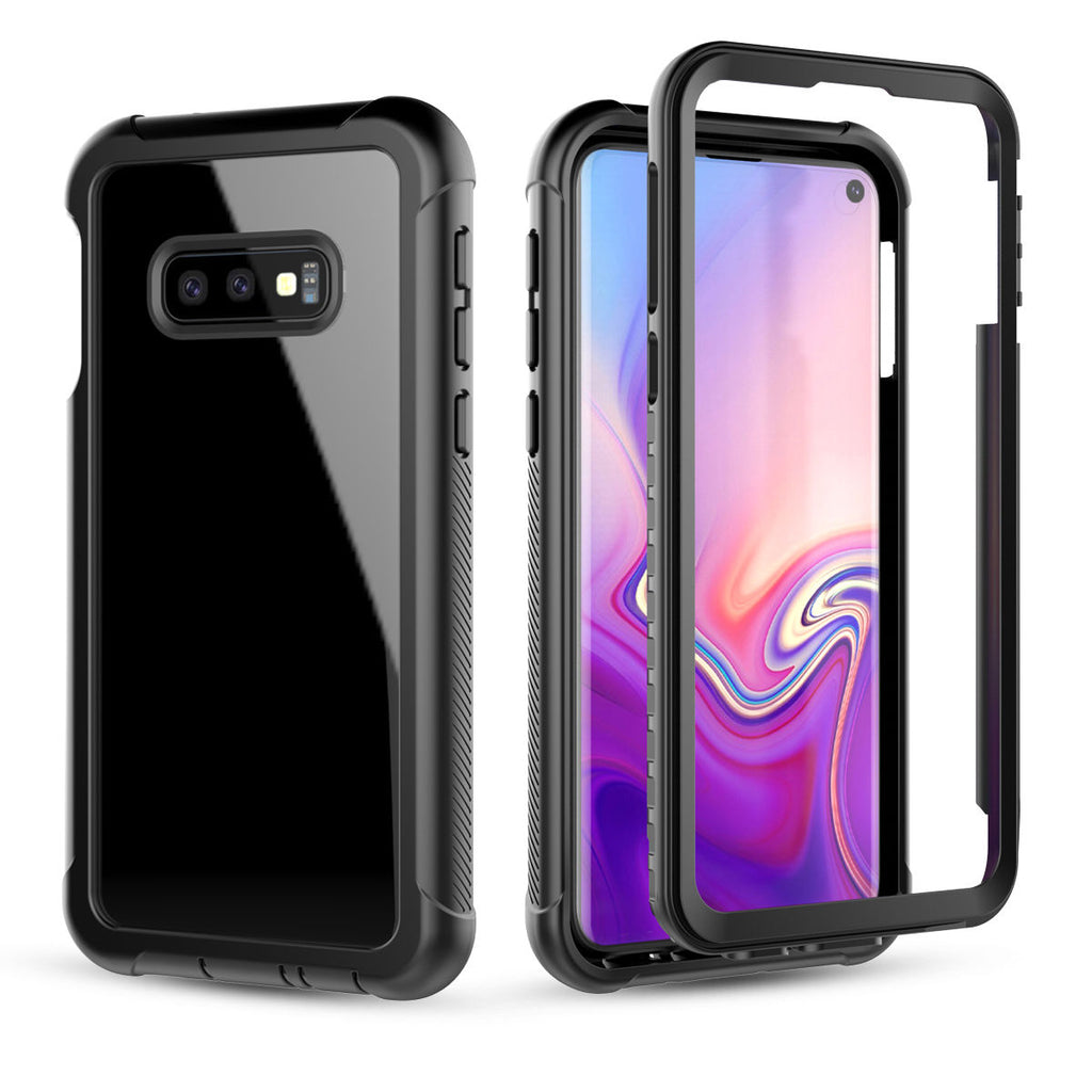 Case for Samsung Galaxy S10e Full-body Rugged Case Built-in Screen Protector Black