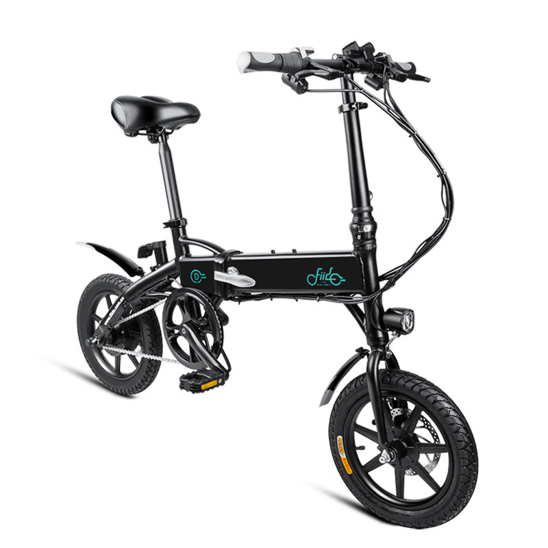 Mini Folding Aluminum Electric Bicycle with 250W Motor 14inch Tire Black