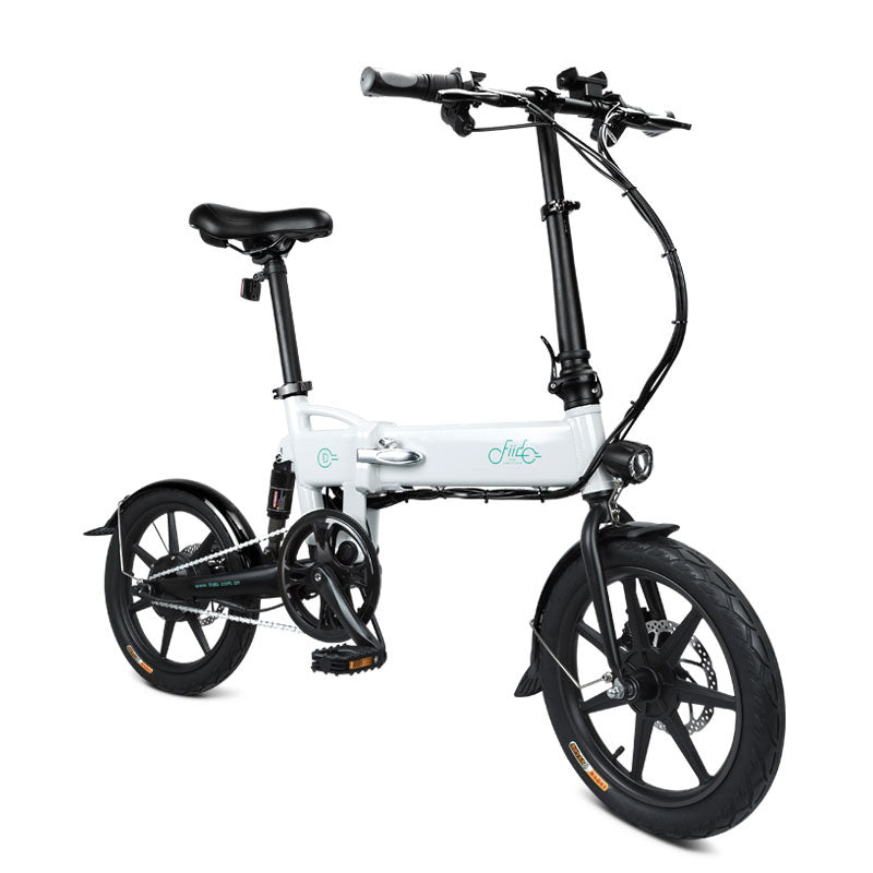 Electric Bicycle Quick Folding E-Bike Mini Portable Commuter Power Bike White