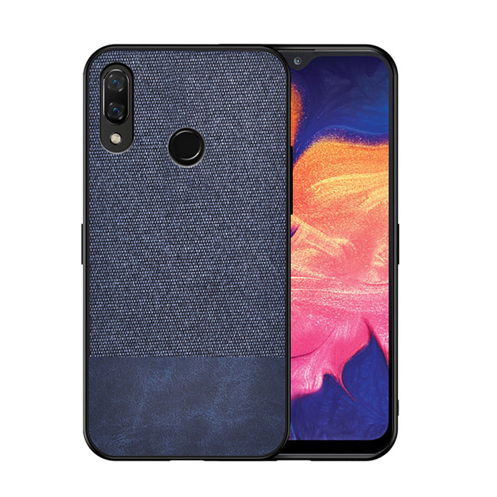 Samsung Galaxy A30 Case Shock Resistance Fabric Ultra Thin Back Cover Blue