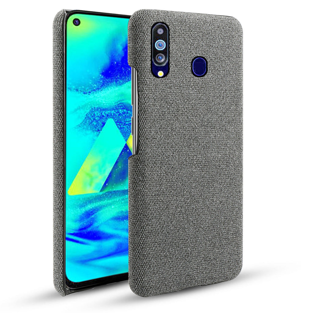 Galaxy M40 Fabric Case Ultra Thin Protection Shell Soft Cloth Anti Slip Grey