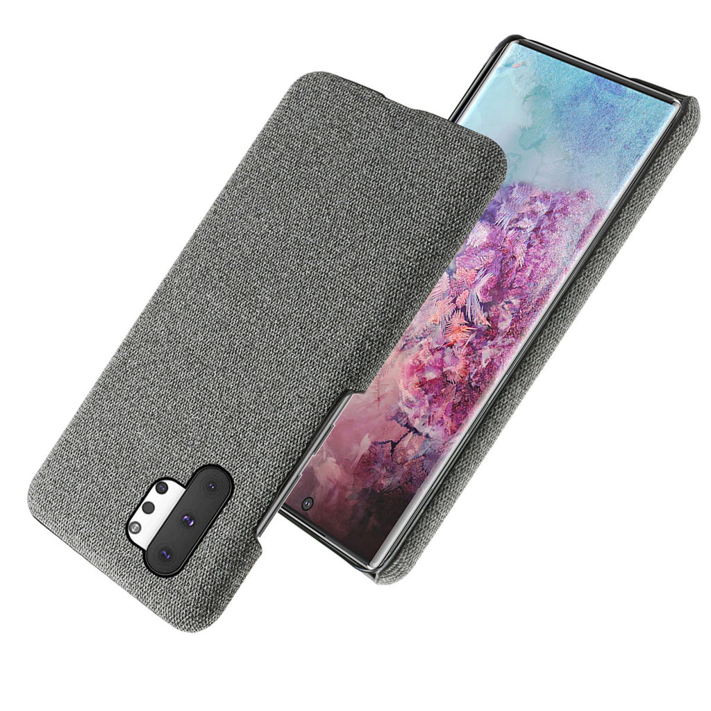 Cover for Galaxy Note 10 Plus 5G anti fall fabric case ultra thin shell grey